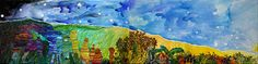 Aquarelle sur toile - Janvier 2018 - 91X45cm (X2 toiles). Creations, Painting, Art, Canvases, January, Watercolor Painting, Paint, Painting Art, Paintings