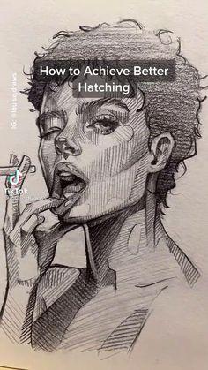 Art Drawings Sketches Simple, Pencil Art Drawings, Cool Drawings, Sketch Art, Drawing Techniques, Drawing Tips, Art Tutorials, Drawing Tutorials, Anatomy Art