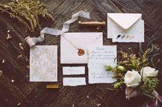 vintage wedding stationery винтажная полиграфия