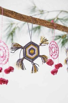 Geo Yarn Ornament - Urban Outfitters $12