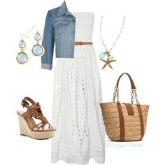 Every girl needs a long white dress for summer