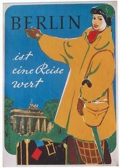 Original Vintage Poster Berlin Germany Worth The Trip   eBay