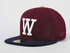 W Biking Red 59Fifty Fitted Baseball Cap by WESC x NEW ERA