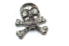 skull charm beads / skull pendant alloy as metal base,finished with gummetal plated, decorated with quality rhinestone beads size you will receive See more alloy beads here: Green Companies, Metal Skull, Skull Pendant, Beaded Skull, Jewelry Making, Bead Jewelry, Wholesale Beads, Pewter, Plating