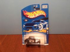 Hot Wheels '32 Ford #216 2001 Black 1932 State Trooper 50 Cent Combined Shipping…