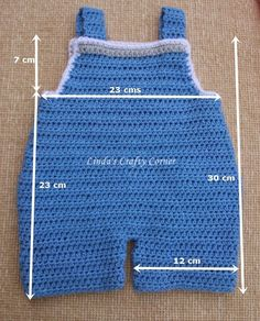 Linda's Crafty Corner: Baby Dungaree Pattern 3 M I have had lots of emails requesting a New born size for the Crochet Dungarees which I made back here , so here it is as promised. Resultado de imagen para Free Crochet Baby Sailor Hat Pattern/etsy*com Baby Crochet Baby Pants, Crochet For Boys, Crochet Clothes, Newborn Crochet, Double Crochet, Baby Knitting Patterns, Baby Patterns, Crochet Patterns, Crochet Gratis