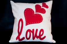 "Valentine's Day ""Love & Hearts"" Decorative Pillow"