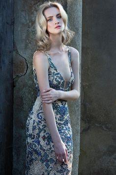Vestido bordado para festa - Fabiana Milazzo