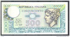 BANCONOTA DA LIRE 500 FDS MERCURIO DECRETO 2/4/1979 ITALIE
