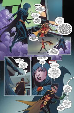 Teen Titans Issue - Read Teen Titans Issue comic online in high quality Titans Rebirth, Raven Comics, Damian Wayne Batman, Demian Wayne, Robin And Raven, Raven Cosplay, Fantasy Drawings, Dc Comics Characters, Deathstroke