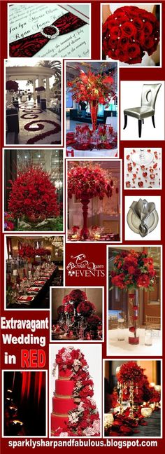 Extravagant Wedding in Red - Ideas and Inspiration Board