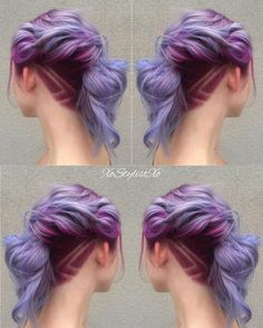 """Love this beautiful creative color! I took it up a notch by adding an undercut and design. Want to see more looks like this? What inspires your…"""
