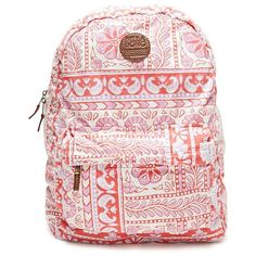 Billabong Hand Over Love Backpack (1.260 RUB) ❤ liked on Polyvore featuring bags, backpacks, accessories, red, billabong backpacks, red backpack, billabong rucksack, red bags and red pouch