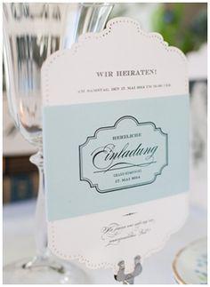 Lieschen und Ruth Andrea Staehr Einladung Vintage Hochzeit