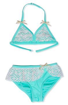 Hula Star Crochet Two-Piece Swimsuit (Toddler Girls & Little Girls) available at #Nordstrom