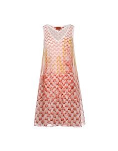 Dress in silk printed with a paint drip effect, lined in viscose knit fabric. Soft, full fit.