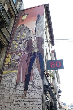 Street Cartoons in Brussels, Belguim