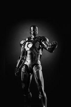 Ironman Dark Figure Hero Art Avengers Bw #iPhone #4s #wallpaper