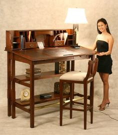 Interesting desk to stand at.  Like the space it offers and storage.  http://kathrynvercillo.hubpages.com/hub/10-Standing-Desks-to-Help-You-Lose-Weight-Improve-Posture-and-Just-Plain-Feel-Better