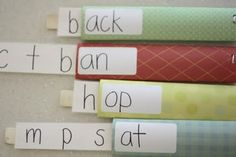 I'm doing this!  Teacher friends please bring me paper towel rolls!(paint sticks too if you have them!)