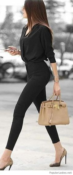 all black outfit for work ~ all black outfit . all black outfit for party . all black outfit for work . all black outfit casual . all black outfit winter . all black outfit men . all black outfit for party night . all black outfit for party classy Trajes Business Casual, Business Casual Outfits, Business Chic, Business Clothes, Business Look, Business Meeting, Business Dresses, Sexy Business Attire, Business Attire For Young Women