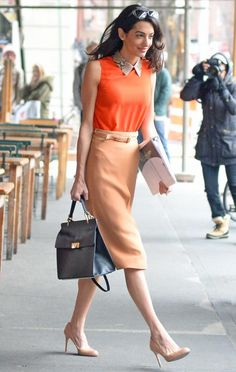 12 Chic Amal Clooney Looks to Inspire Your Work Wardrobe - April 2015 from Lawyer Fashion, Office Fashion, Work Fashion, Curvy Fashion, Fall Fashion, Petite Fashion, Fashion Trends, Business Outfits, Office Outfits