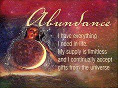 Abundance Checks for Manifesting