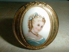 vintage gp limoges france porcelain pill box by fadedglitter42263, $48.00