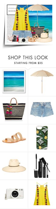 """""""Vacation Time"""" by junethesev7n ❤ liked on Polyvore featuring Oris, Mar y Sol, RE/DONE, Sonix, Ibo-Maraca, Marc Jacobs, Lomography and Mary Katrantzou"""