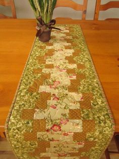 Patchwork Table Runner Floral Zig Zag on Wanelo