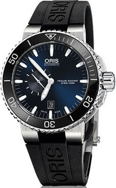 Oris Watch Aquis Date Small Second Rubber #basel-15 #bezel-unidirectional #bracelet-strap-rubber #brand-oris #case-material-steel #case-width-46mm #date-yes #delivery-timescale-4-7-days #dial-colour-blue #gender-mens #luxury #movement-automatic #new-product-yes #official-stockist-for-oris-watches #packaging-oris-watch-packaging #style-divers #subcat-aquis #supplier-model-no-01-743-7673-4135-07-4-26-34eb #warranty-oris-official-2-year-guarantee #water-resistant-500m