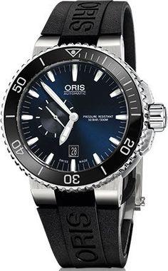 4604ae4e924 Oris Watch Aquis Date Small Second Rubber  basel-15  bezel-unidirectional