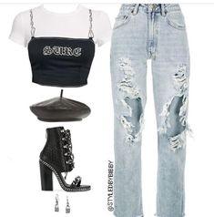 Style Fashion Tips .Style Fashion Tips Stage Outfits, Kpop Outfits, Edgy Outfits, Teen Fashion Outfits, Kpop Fashion, Mode Outfits, Retro Outfits, Simple Outfits, Cute Fashion