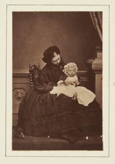 The Crown Princess of Prussia (Princess Royal of England) with Princess Charlotte of Prussia, July 1861 [in Portraits of Royal Children Vol.5 1860-1861]
