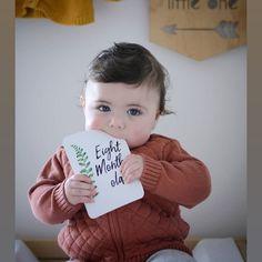 Ahhhhh would you look at her ❤️❤️❤️ Memory Journal, Baby Journal, Tiny Stories, Baby Milestone Cards, Babies First Year, Sister Love, 1 Year Olds, Baby Milestones, Cute Cards