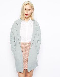 €121, Hellblauer Mantel von Asos. Online-Shop: Asos. Klicken Sie hier für mehr Informationen: https://lookastic.com/women/shop_items/89407/redirect