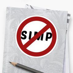 'Simp' Sticker by Unbeatable Apparel Glossier Stickers, Artist, Prints, Design, Artists