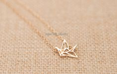 Paper Crane Necklace