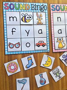 Letter Sound Activities, Alphabet Activities, Letter Sound Games, Phonemic Awareness Activities, Alphabet Bingo, Youth Activities, Preschool Literacy, Kindergarten Activities, Literacy Skills