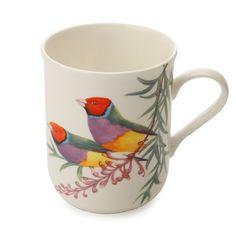 CANECA 300ML EM PORCELANA BIRDS GOULDIAN FINCHES MAXWELL&WILLIAMS @ Spicy
