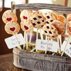 Pie Pops are just that... delicious mini pies, on a stick!   www.PaulaParrish.blogspot.com