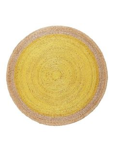 Armadillo & Co. Pinwheel braid weave rug - canary yellow