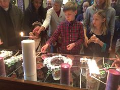 Here are two alternatives to lighting candles during advent that are interactive. Option One: Materials: Mirrors to cover the table, tea light candles, 5 pillar candles, long matches. Spell out the...
