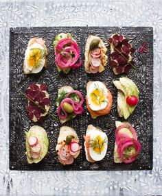 bread sandwich canape snittar food styling