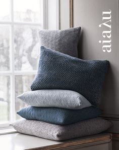 Blues & grays accent colors for Living Room for Winter idea with your plaid throw blankets.
