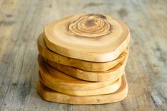 French Olive Wood Coasters – Spartan
