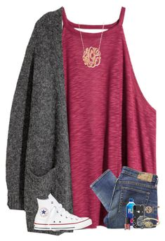 """""""doctors appt. today"""" by kendallthackston on Polyvore featuring H&M, Jennifer Zeuner, Denim & Supply by Ralph Lauren, Converse, Kate Spade, Topshop, Alison & Ivy and NARS Cosmetics"""