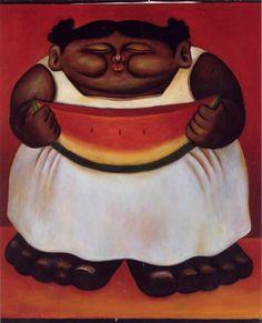 La Sandia...  By Alberto Godoy,Cuban Artist Born in 1960