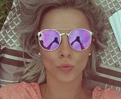 c213b956ba938 Óculos De Sol Feminino, Óculos Feminino, Oculos Rose, Oculos De Sol  Espelhado,