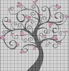 very pretty... filet crochet idea?
